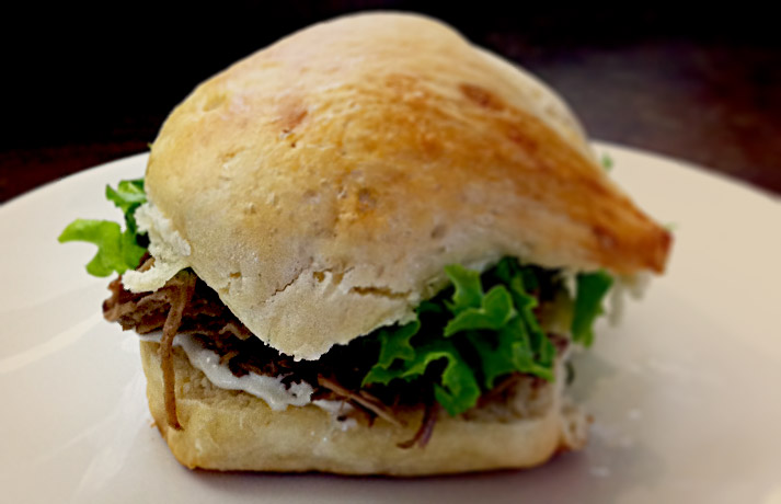 Portuguese Sweet Bread Kalua Pork Slider