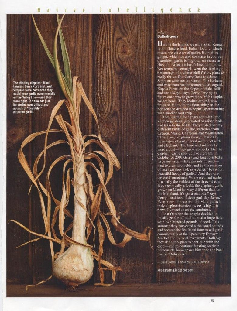 Kupaa farms hana hou magazine