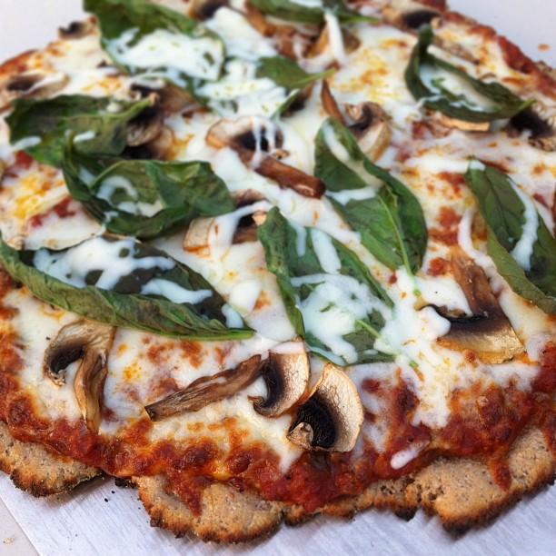 Gluten free taro pizza crust