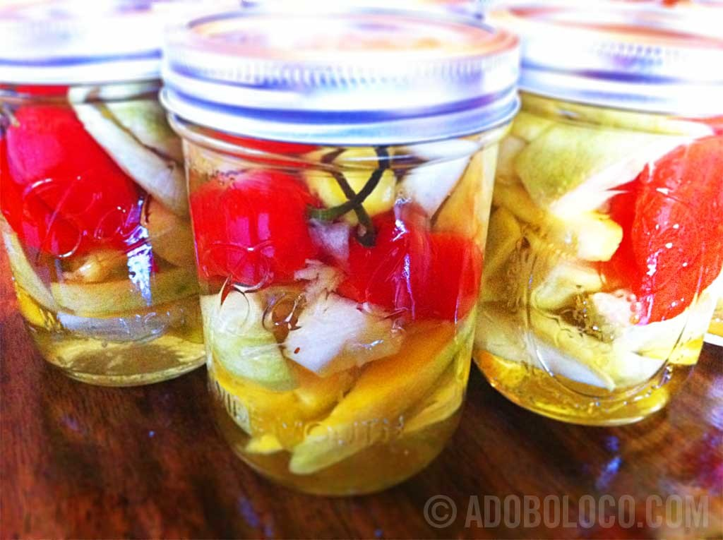 Ghost Pepper Pickled Mango Adoboloco Style Greatest Recipe Of