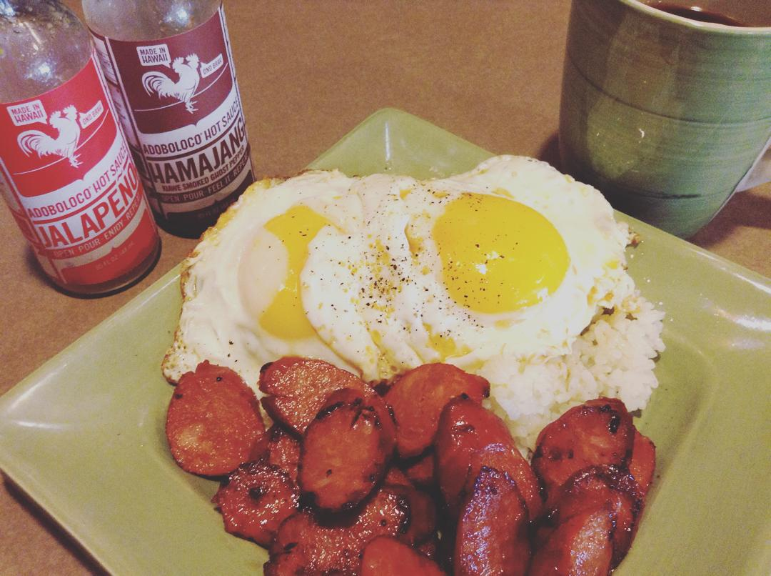 portuguese sausage eggs and rice