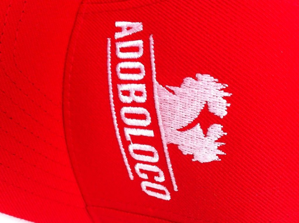 Adoboloco-double-cock-logo-embroidery
