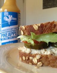 Tuna Fish Salad Sandwich with Adoboloco Pineapple Habanero Hot Sauce