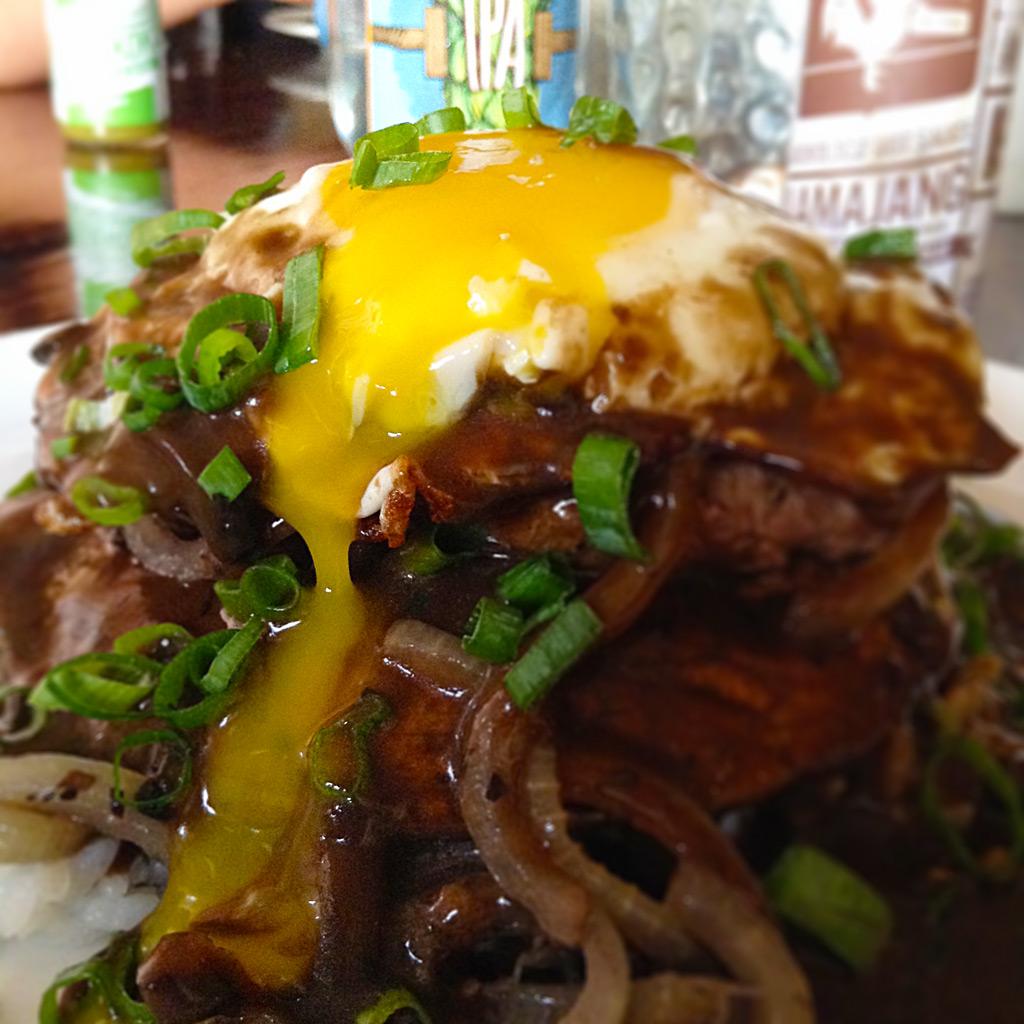 Loco Moco Egg Yolk Adoboloco Hawaiian Style