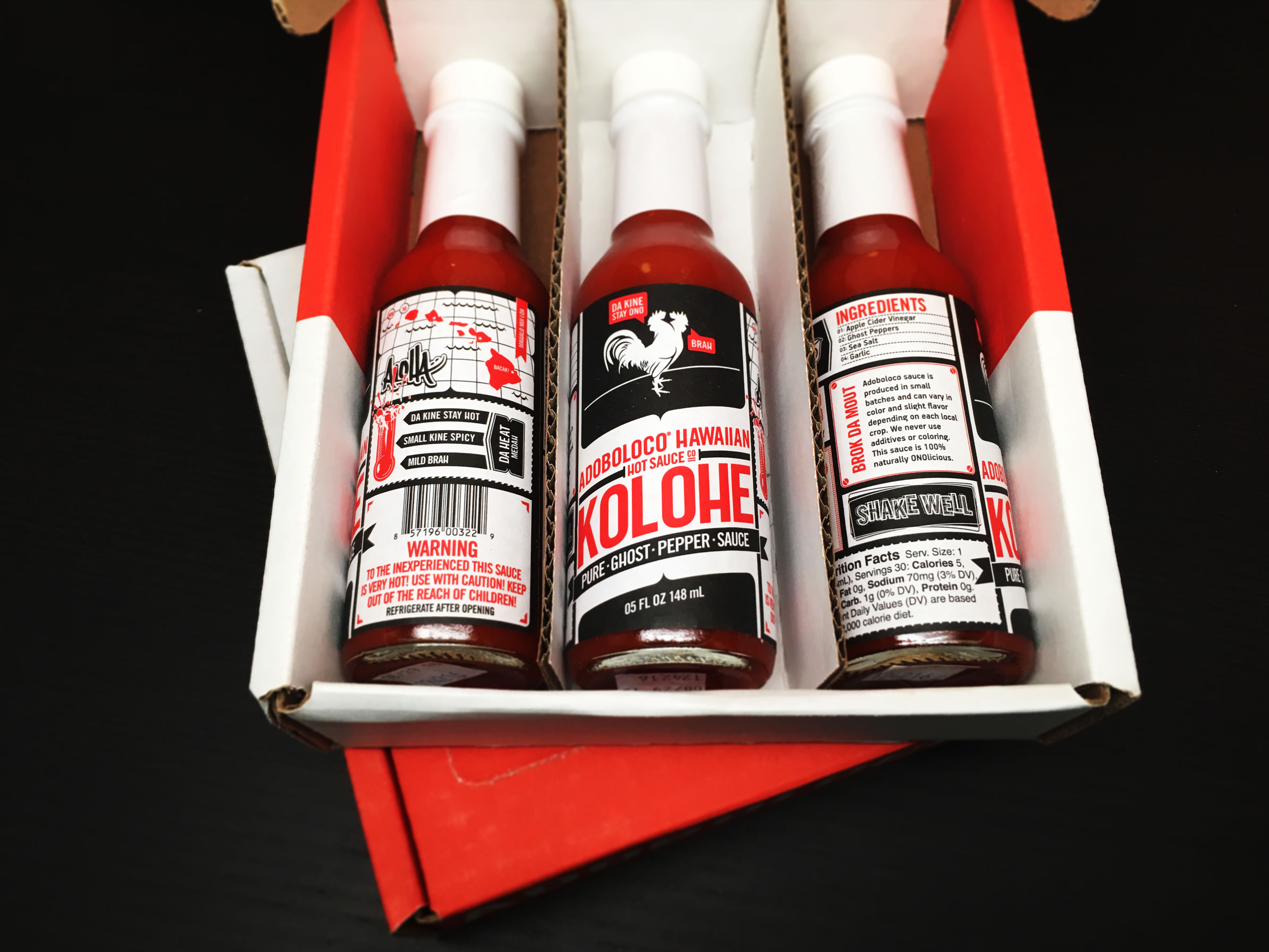 Kolohe Pure Ghost Pepper Hot Sauce Gift Pack
