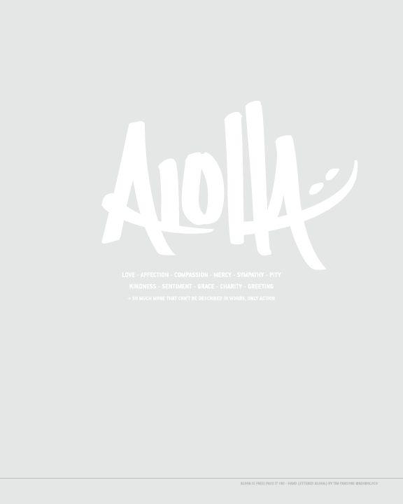 Adoboloco Aloha Poster handlettering