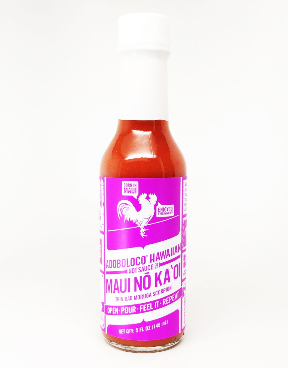 1 Bottle of Adoboloco Maui No Ka Oi Trinidad Moruga Scorpion Hot Sauce
