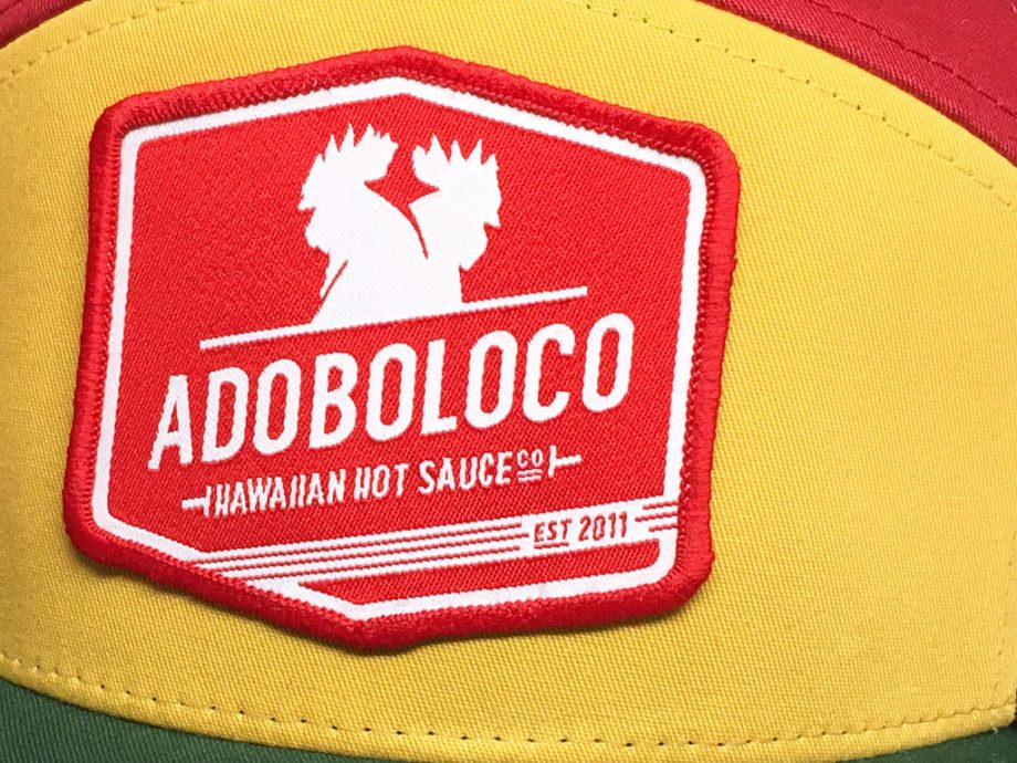 adoboloco-trucker-red-green-gold-patch-detail