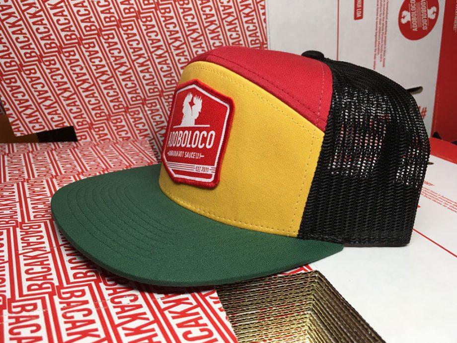 adoboloco-trucker-red-green-gold-side