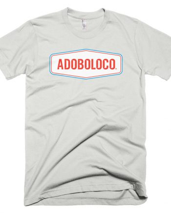 2018 Adoboloco Logo Tee with Rooster Spur Inspired Typography