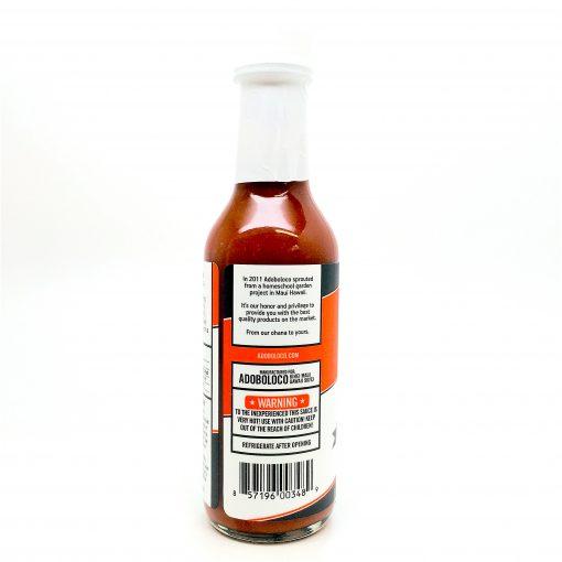 Adoboloco FIYA FIYA hot sauce bottle detail panel