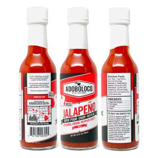 3 pack of Adoboloco Jalapeno Mild Hot Sauce that adds the perfect umami flavor