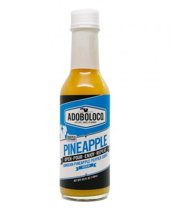 Adoboloco Fresh Hawaiian Pineapple Habanero Hot Sauce