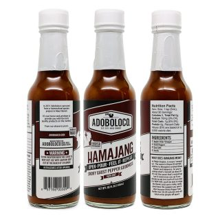 3 Bottles of Adoboloco Hamajang Smoked Ghost Pepper Hot Sauce